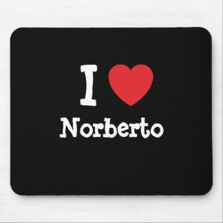 I love Norberto heart custom personalized Mouse Mats