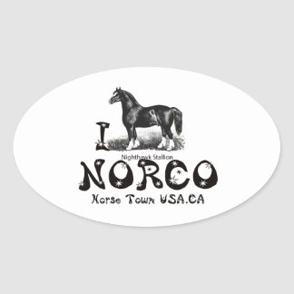 I-Love Norco Horse Town USAmultiple products selec Oval Sticker