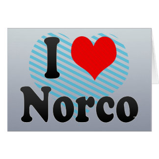 I Love Norco, United States Greeting Cards