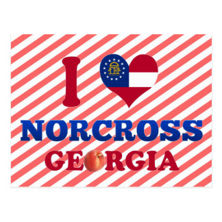 I Love Norcross, Georgia Postcard