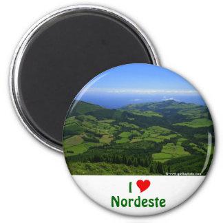 I Love Nordeste - Azores 2 Inch Round Magnet
