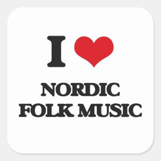 I Love NORDIC FOLK MUSIC Stickers