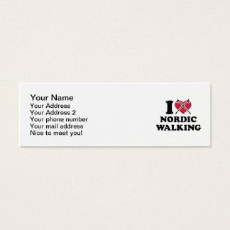 I love nordic walking mini business card
