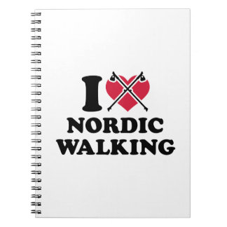 I love nordic walking notebook
