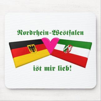 I Love Nordrhein-Westfalen ist mir lieb Mouse Pad