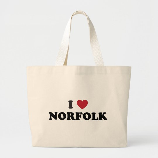I Love Norfolk Virginia Large Tote Bag