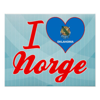 I Love Norge, Oklahoma Poster