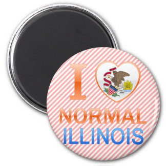 I Love Normal, IL 2 Inch Round Magnet