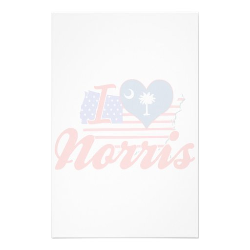 I Love Norris, South Carolina Stationery Paper