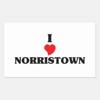 I love Norristown Rectangular Sticker