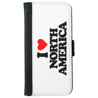I LOVE NORTH AMERICA iPhone 6 WALLET CASE