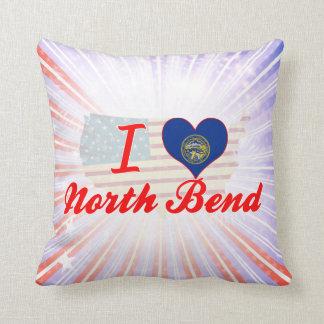 I Love North Bend, Nebraska Throw Pillow