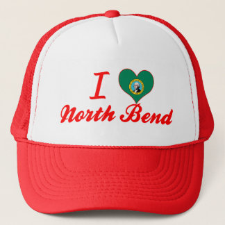 I Love North Bend, Washington Trucker Hat