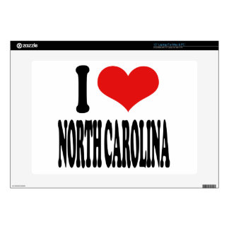 "I Love North Carolina 15"" Laptop Skins"