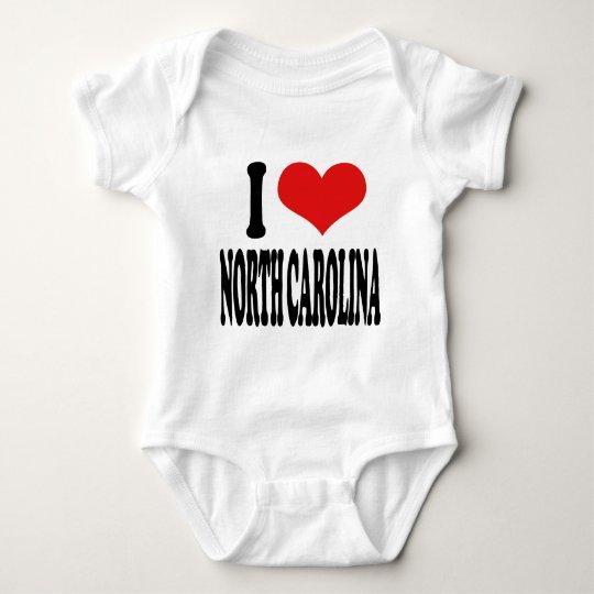 I Love North Carolina Baby Bodysuit