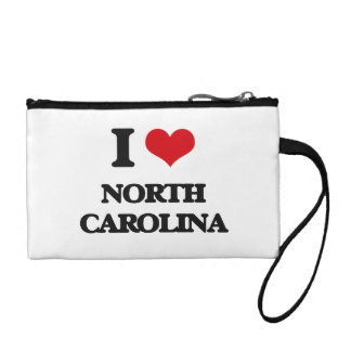 I Love North Carolina Coin Wallets