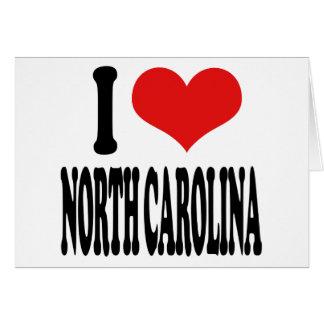 I Love North Carolina Cards