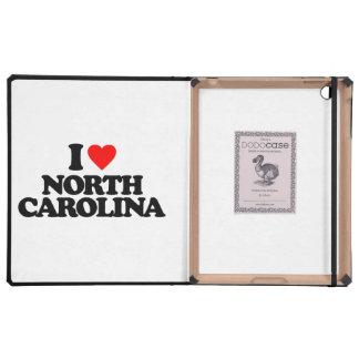 I LOVE NORTH CAROLINA iPad CASE