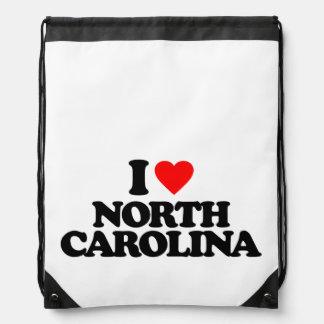 I LOVE NORTH CAROLINA CINCH BAG