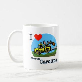 I Love North Carolina Country Taxi Mugs