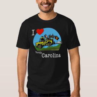 I Love North Carolina Country Taxi Shirt