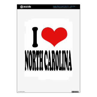 I Love North Carolina Decal For iPad 3