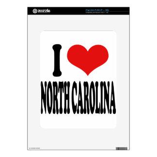I Love North Carolina Decal For The iPad