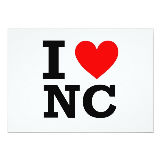 I Love North Carolina Design Card