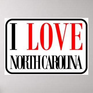I Love North Carolina Design Poster