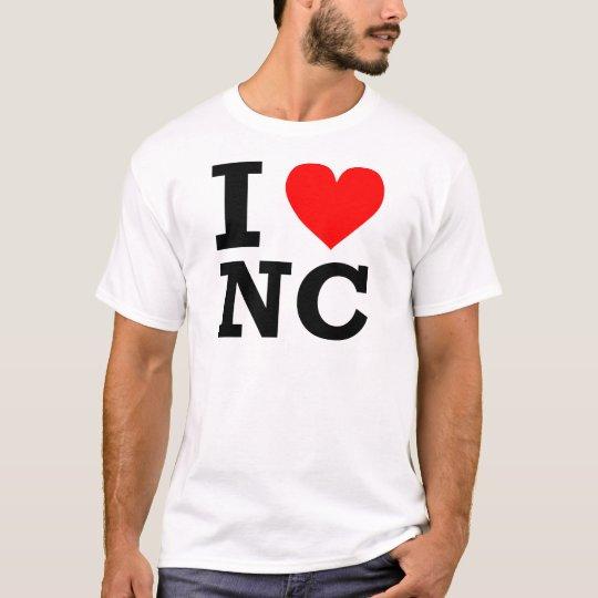 I Love North Carolina Design T-Shirt