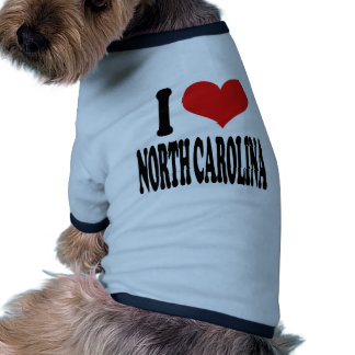 I Love North Carolina Doggie T-shirt