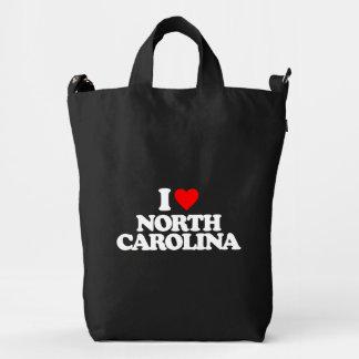 I LOVE NORTH CAROLINA DUCK CANVAS BAG