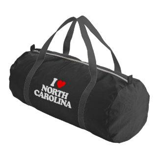 I LOVE NORTH CAROLINA GYM DUFFLE BAG