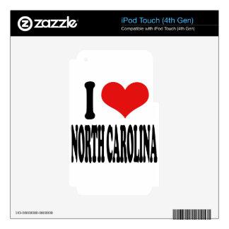 I Love North Carolina iPod Touch 4G Skin