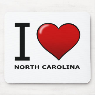 I LOVE NORTH CAROLINA MOUSE PAD