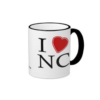 I Love North Carolina Coffee Mugs