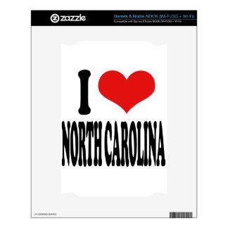 I Love North Carolina NOOK Skins