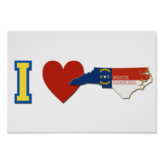 I Love North Carolina Poster