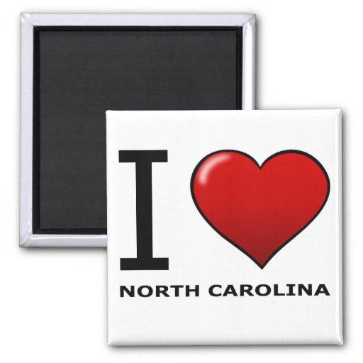 I LOVE NORTH CAROLINA REFRIGERATOR MAGNET