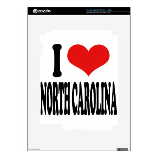 I Love North Carolina Skin For The iPad 2