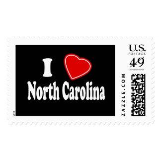 I Love North Carolina Stamp