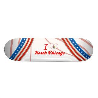 I Love North Chicago, Illinois Skate Board Deck