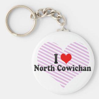 I Love North Cowichan, Canada Basic Round Button Keychain