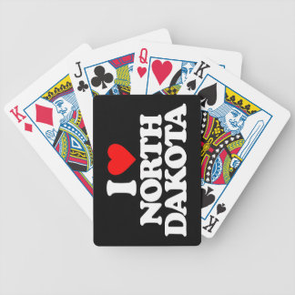 I LOVE NORTH DAKOTA BICYCLE PLAYING CARDS