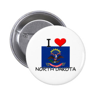 I Love North Dakota Buttons