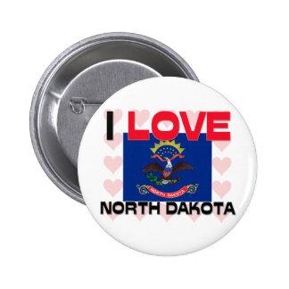 I Love North Dakota Pins