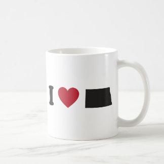 I Love North Dakota Coffee Mug