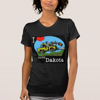 I Love North Dakota Country Taxi Shirt