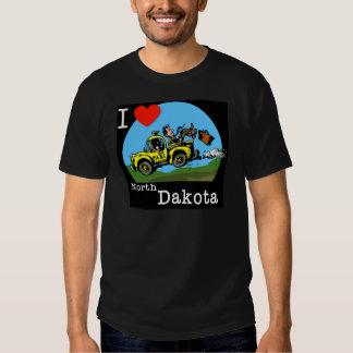 I Love North Dakota Country Taxi T Shirt