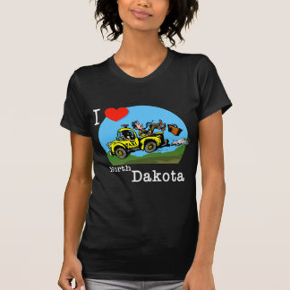 I Love North Dakota Country Taxi Tee Shirt